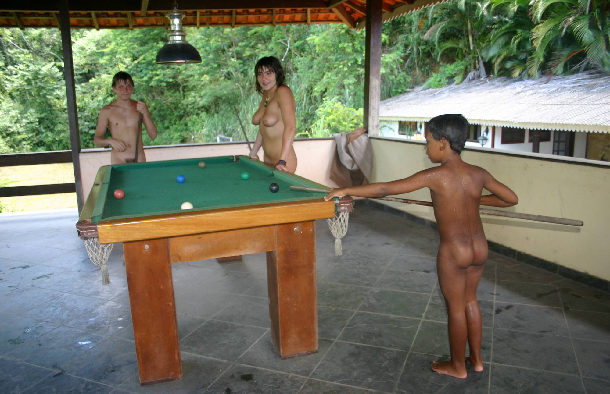 Nudist Pictures Brazilian Pool and Games - 1