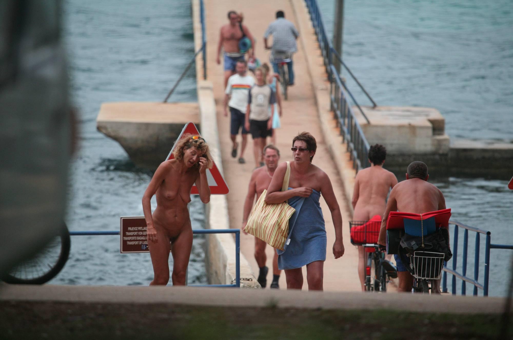 Nudist Photos Crete FKK Bridge Crossing - 2