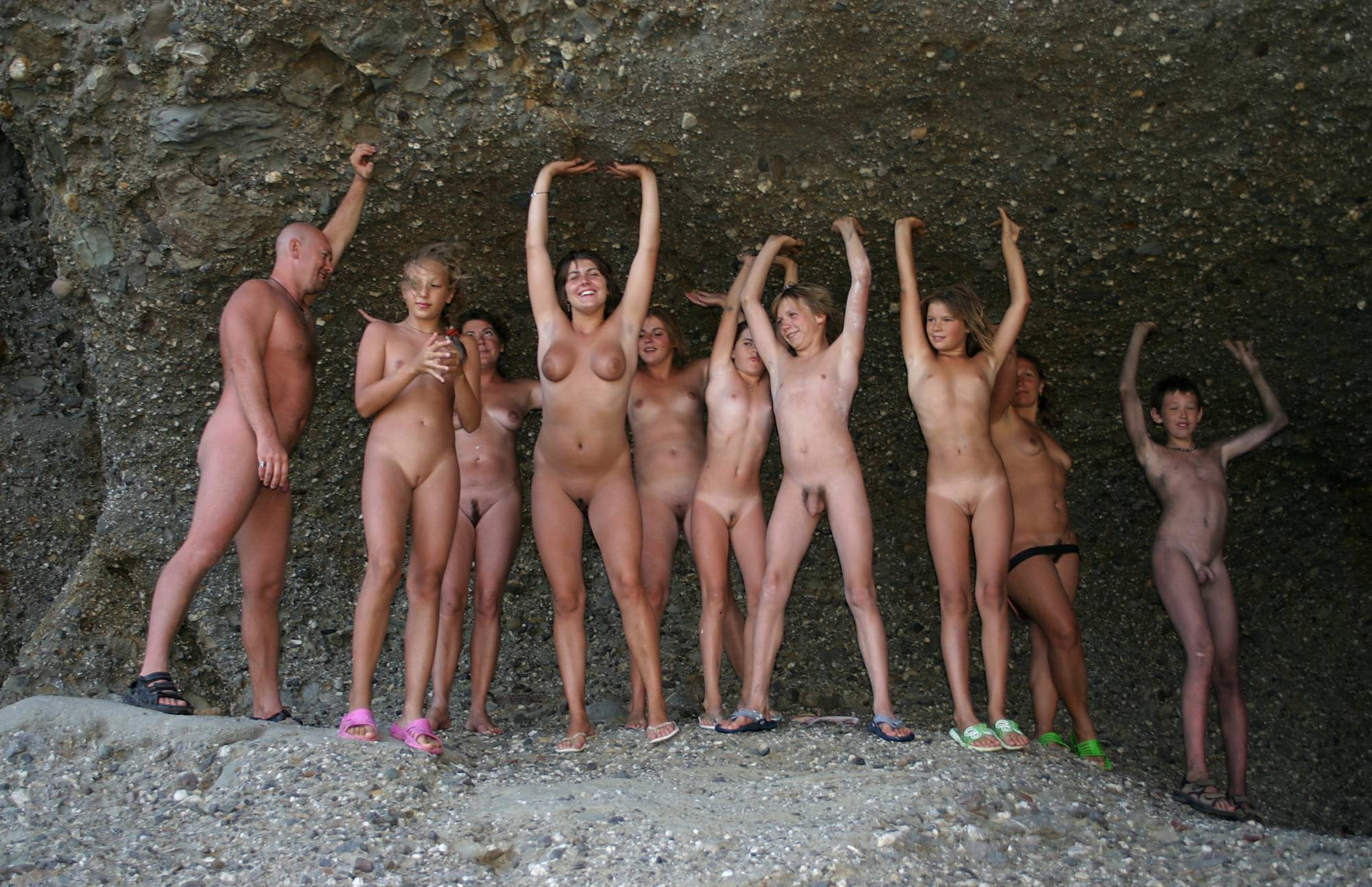 Nudist Gallery Family Cave Photo Line-Up - 1
