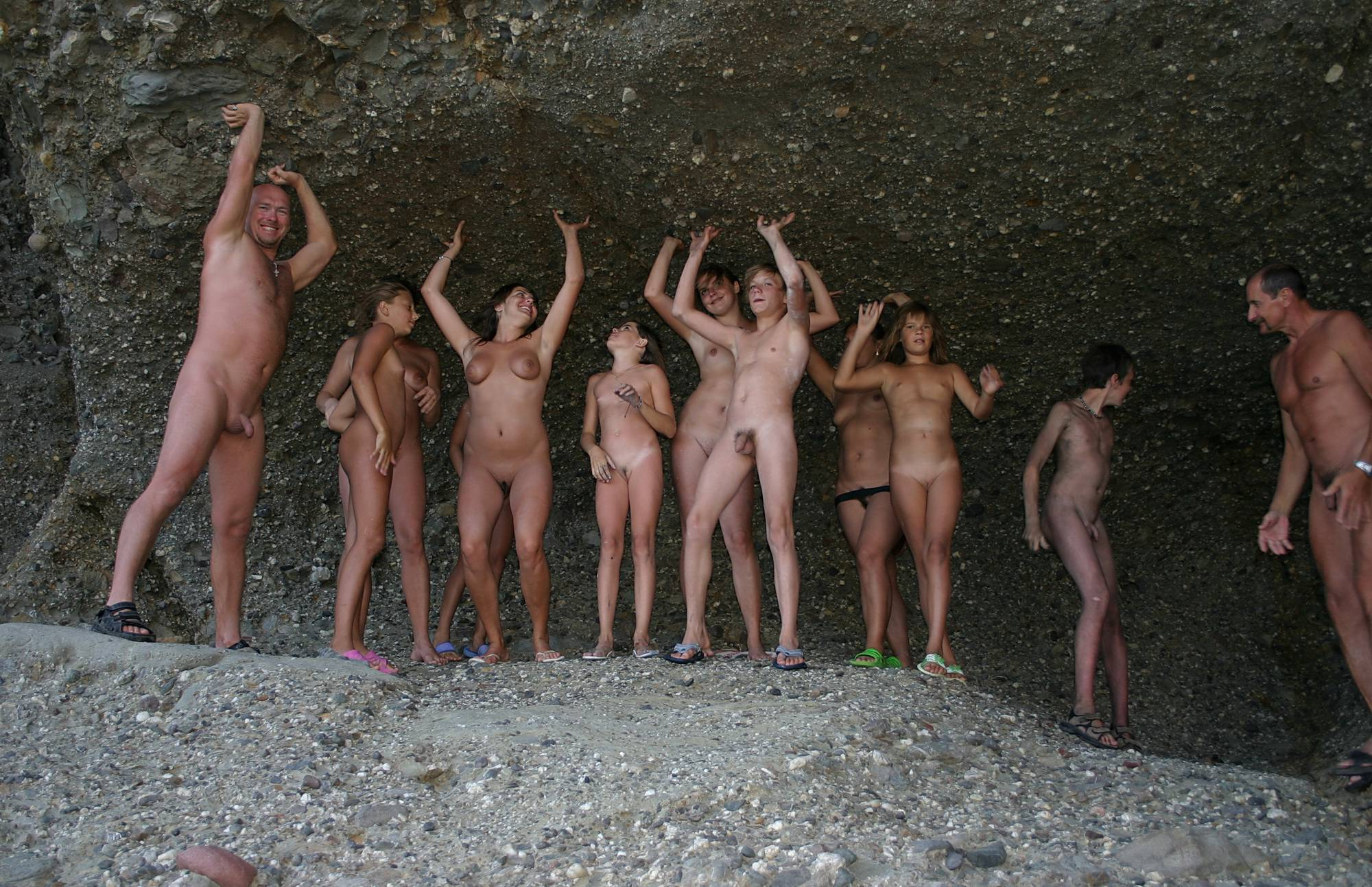 Nudist Pictures Family Cave Photo Line-Up - 2