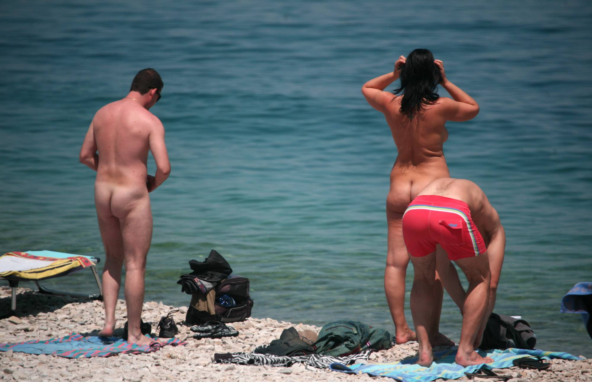 Nudist Gallery Friends Came on a Beach - 2