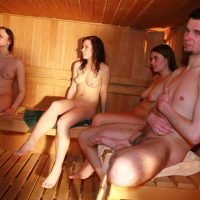 Girls Pool Party Sauna