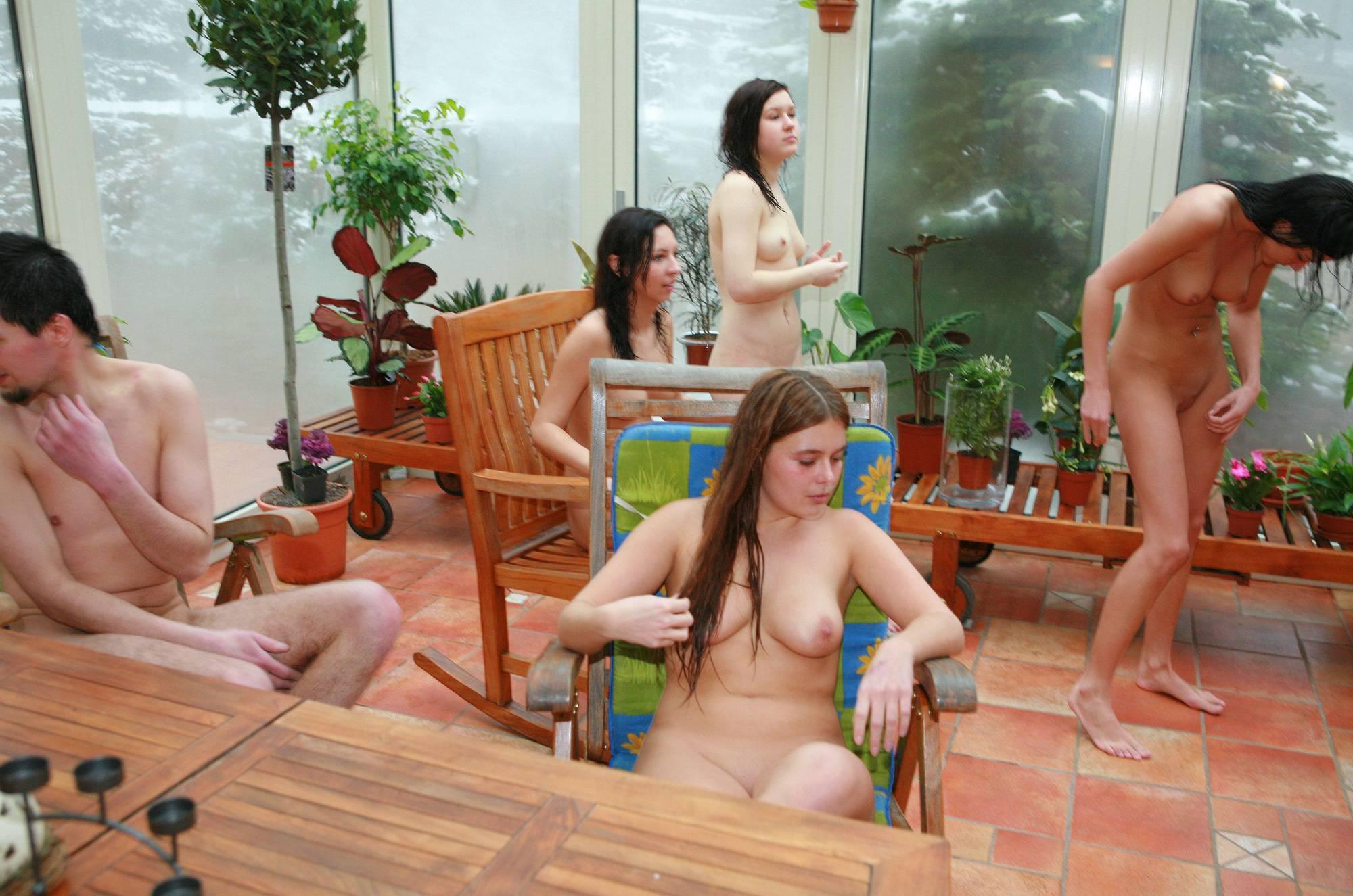 Nudist Gallery Girls' Pool Party Solarium - 1