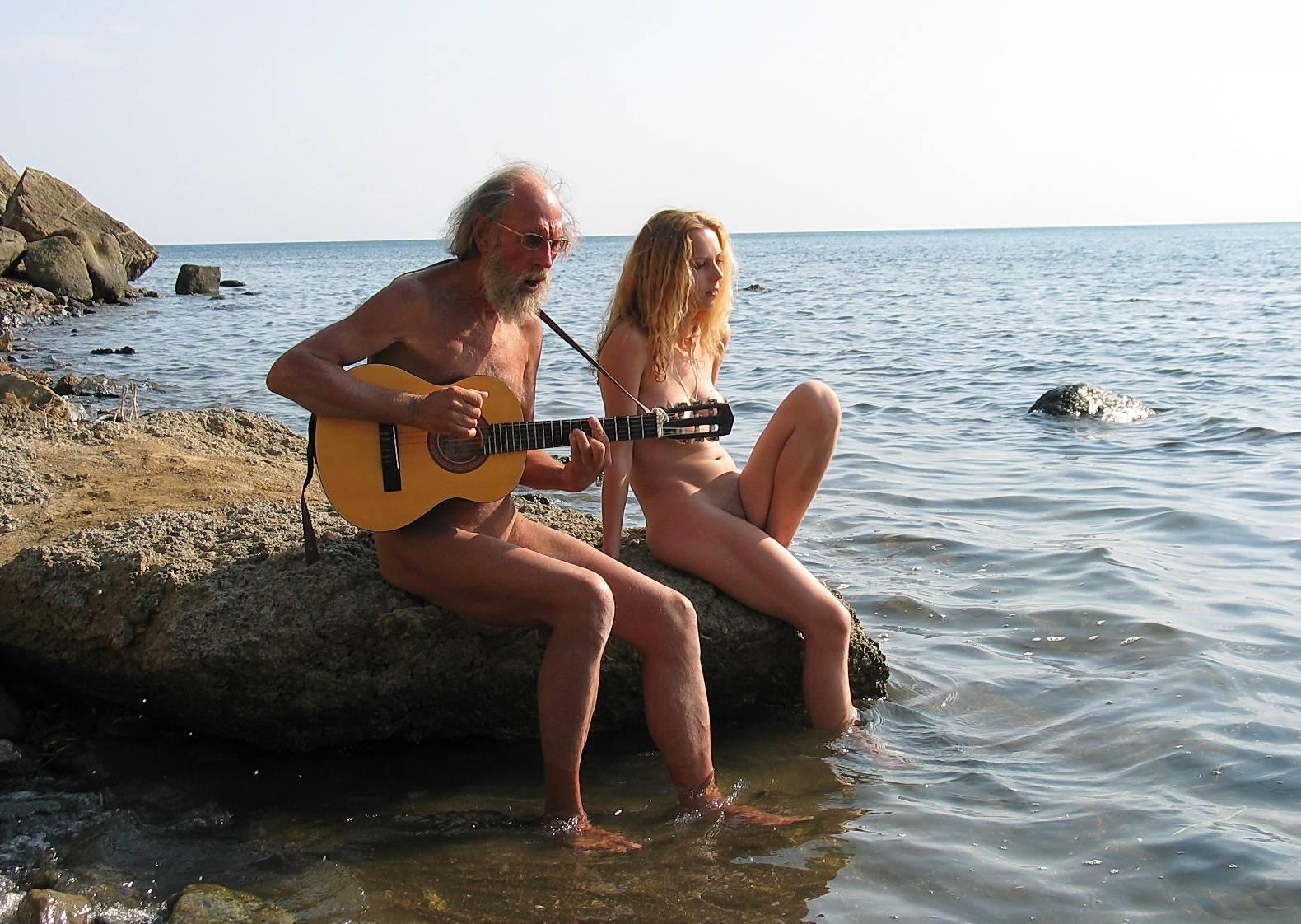 Nudist Photos Guitarists Beach Tunes - 2