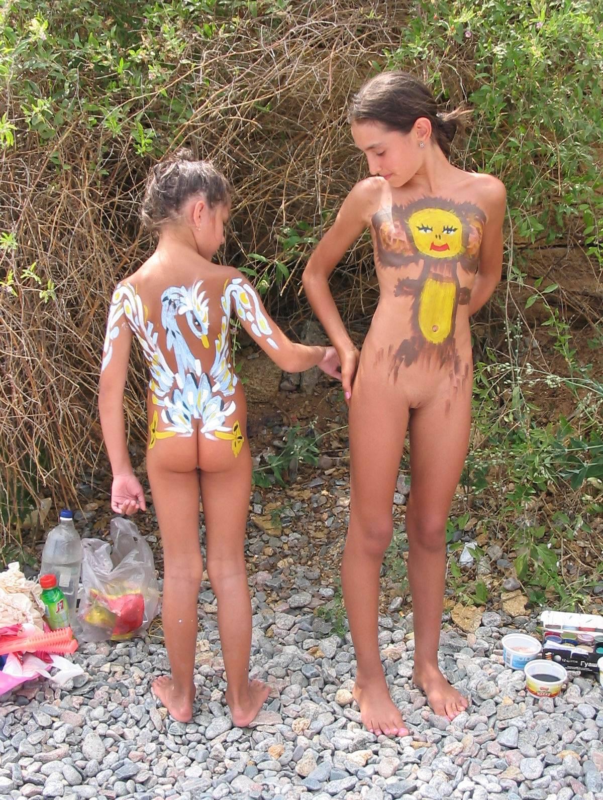 Nudist Pictures Kids Cheburashka Paints - 1