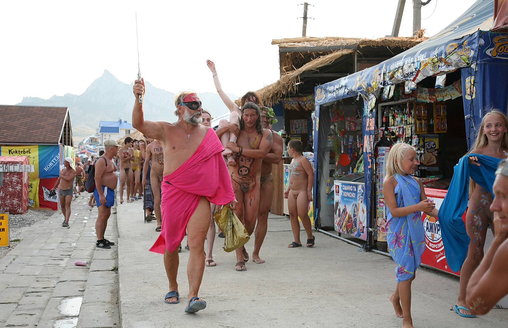 Nudist Gallery Marching Down The Street - 2