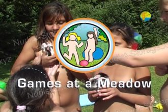 Games at a Meadow - Naturist Freedom