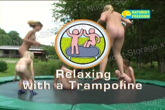 Relaxing with a Trampoline - Naturist Freedom