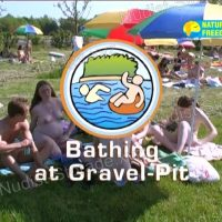 Bathing at Gravel-Pit