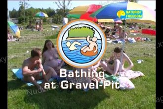 Bathing at Gravel-Pit - Naturist Freedom