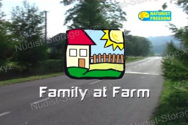 Frame of Family at Farm