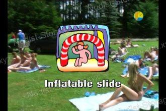 Inflatable Slide - Naturist Freedom