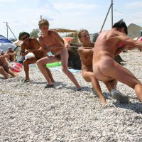 Naturist Kids Tug of War