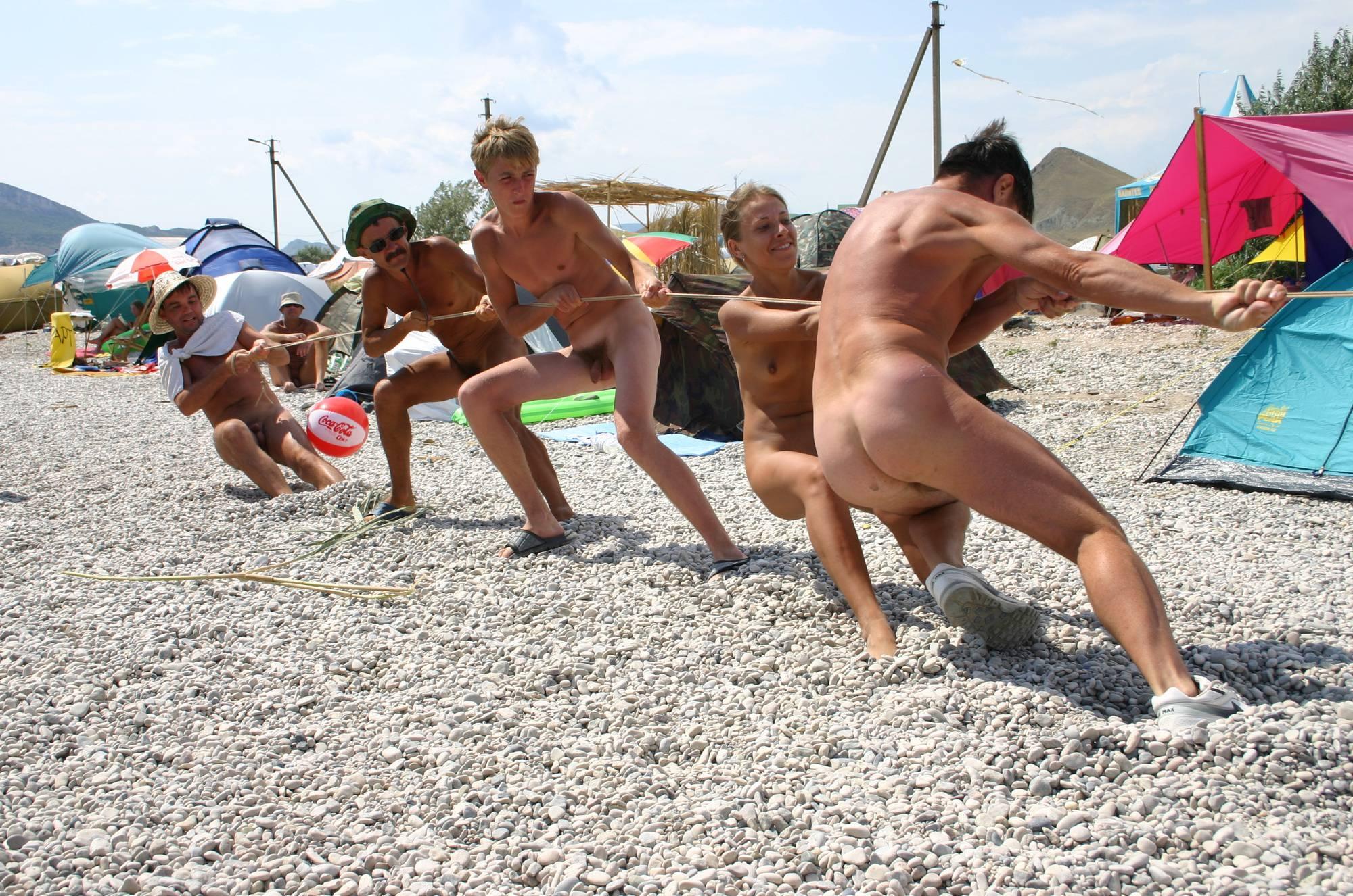 Nudist Photos Naturist Kids Tug of War - 1