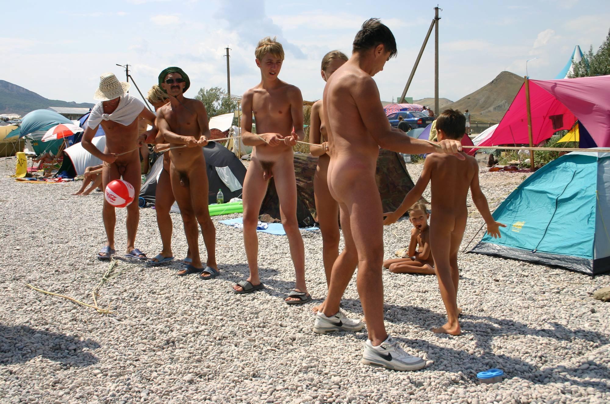 Nudist Pictures Naturist Kids Tug of War - 2