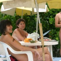 Naturist in the Pink Dress