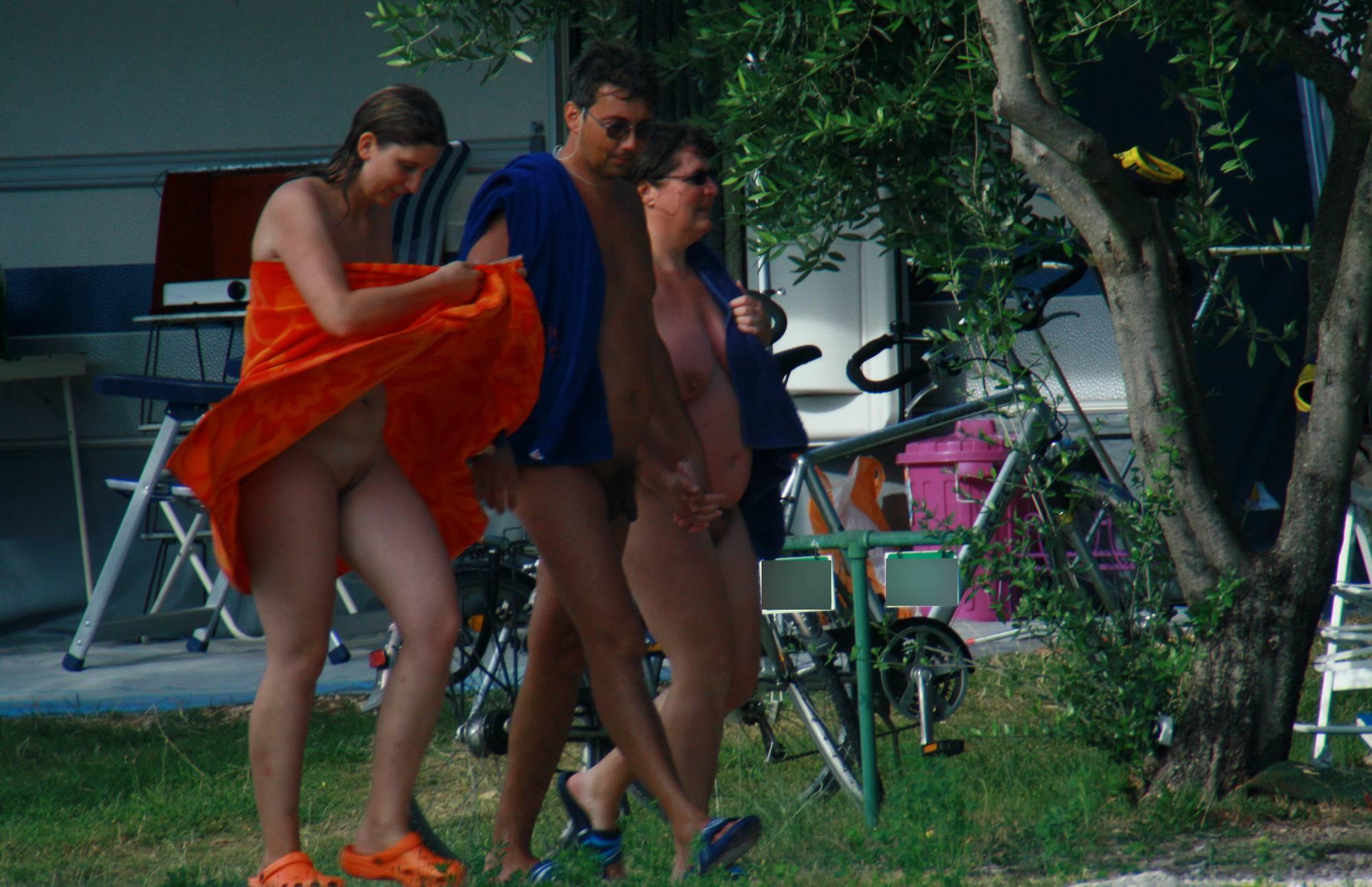 Nude Duet Walking and Bike - 2