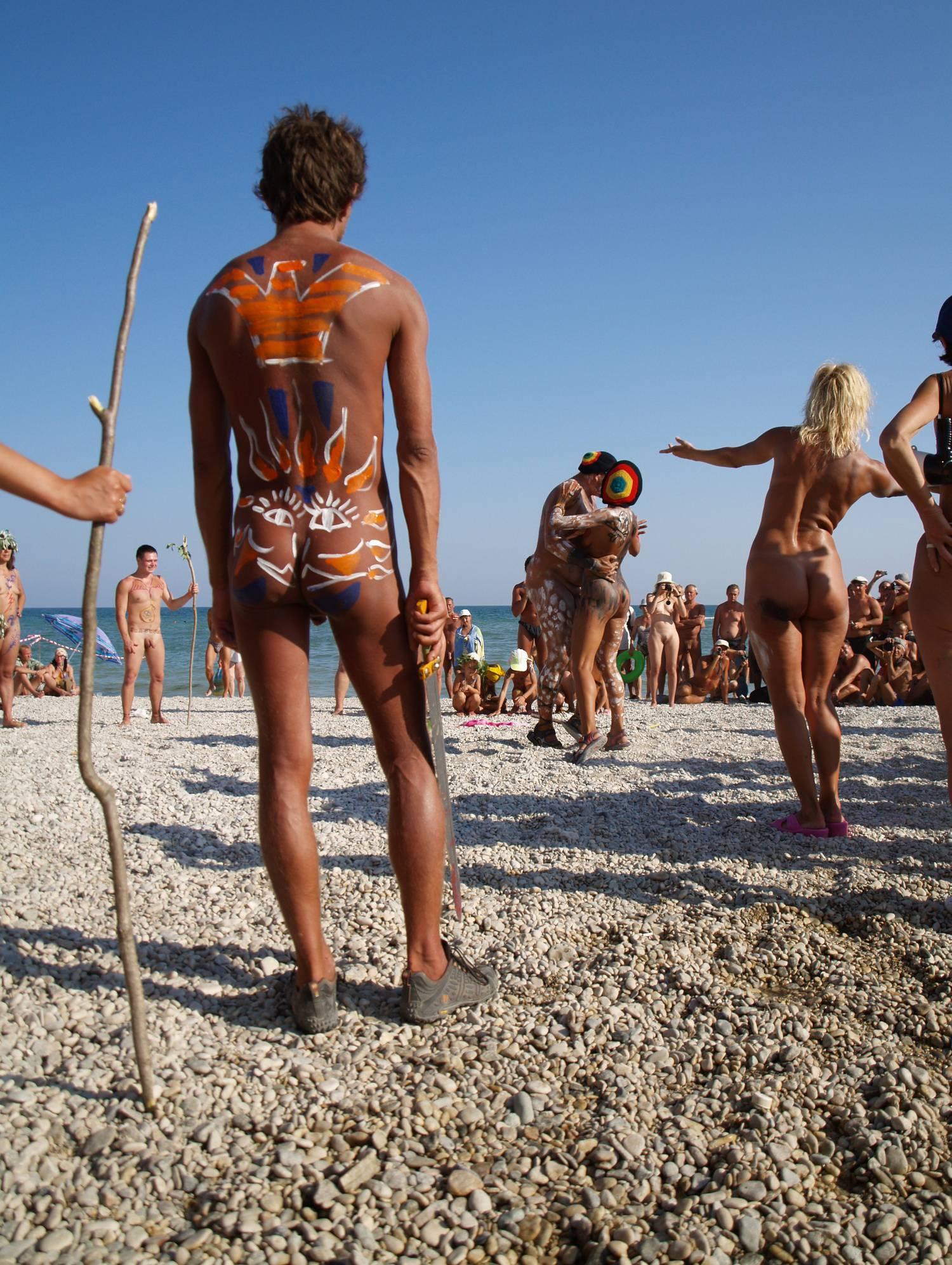 Nudist Gallery Nudist Event Host Dancing - 2