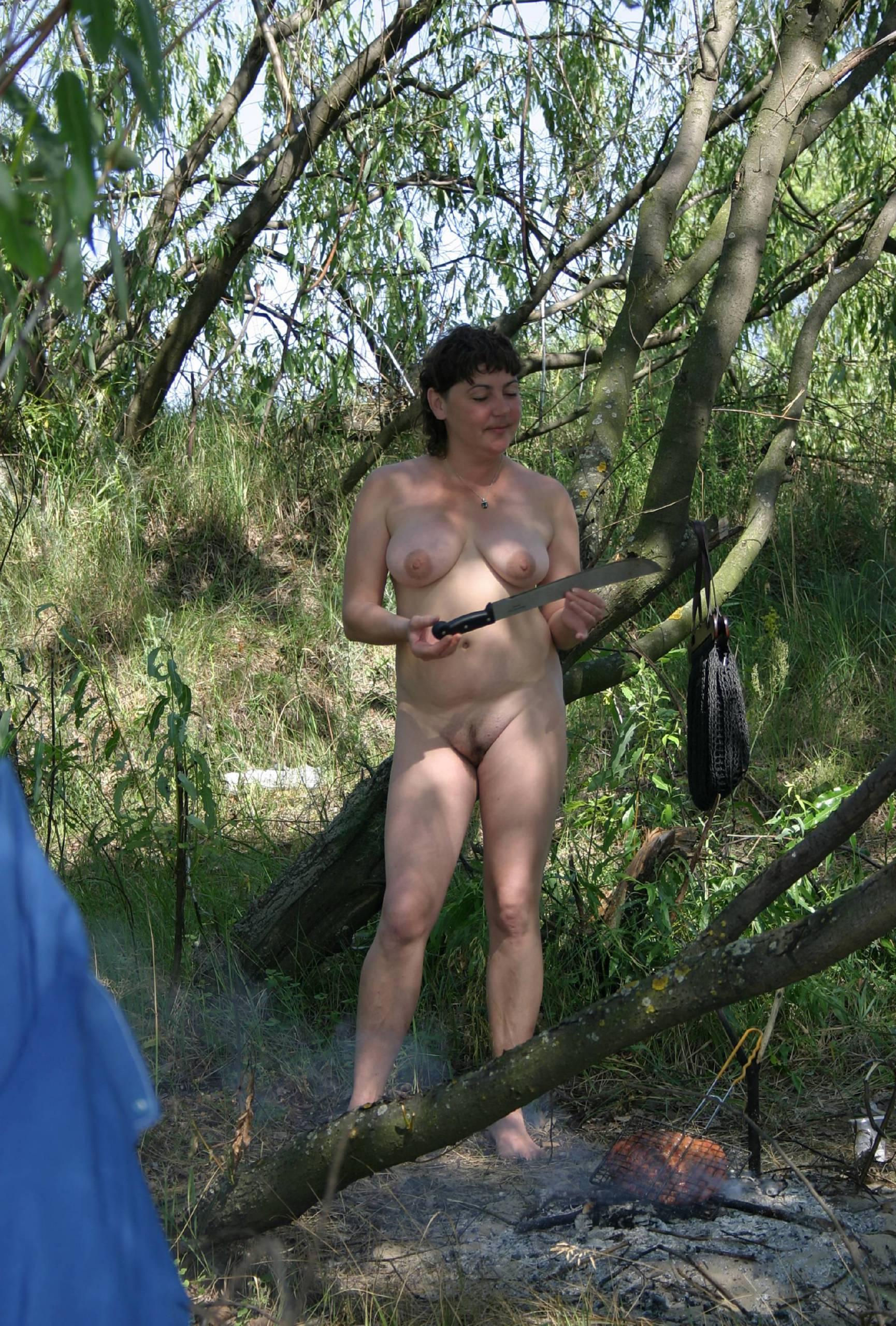 Nudist Photos Artistic Painters At Picnic - 1