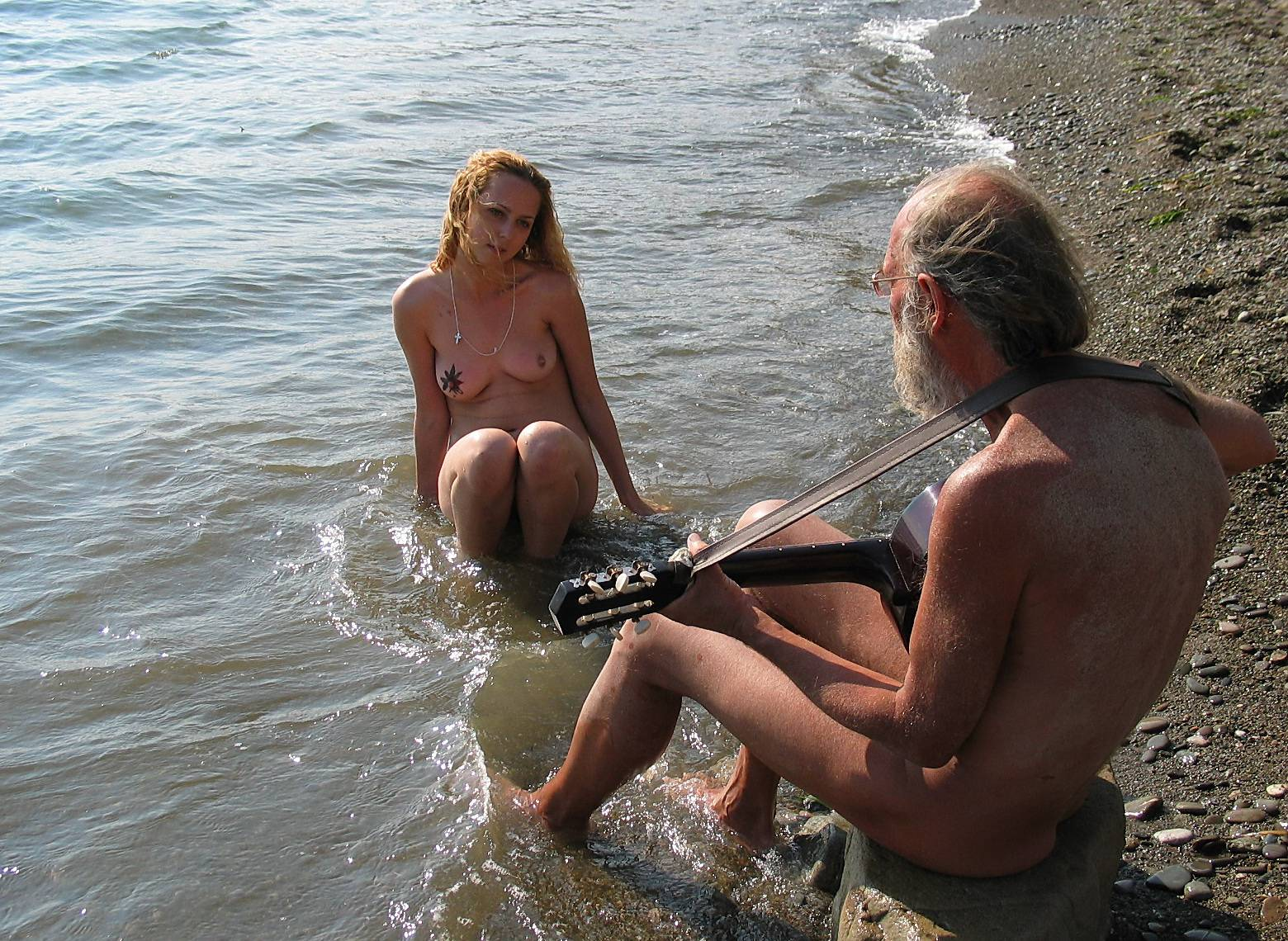 Nudist Gallery Guitarists Beach Tunes - 1