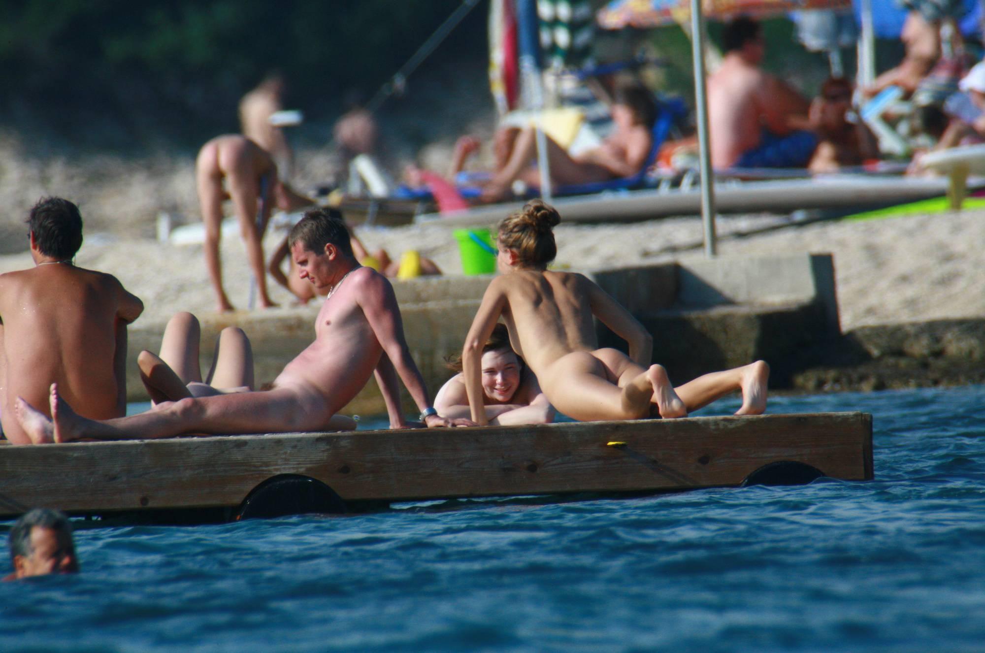 Nudist Slab Group Tanning - 2