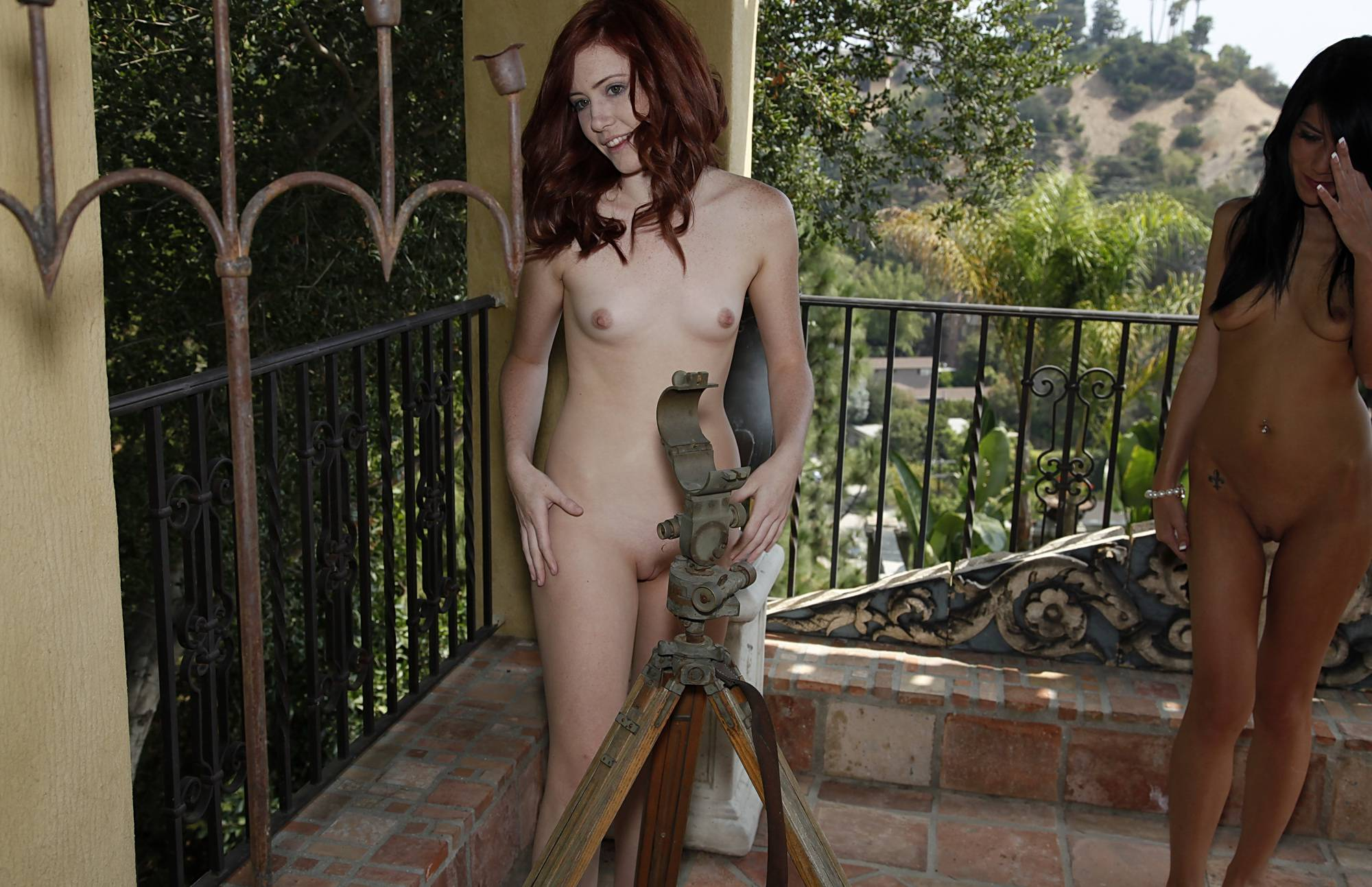Nudist Pics Relaxing Inside The Patio - 1
