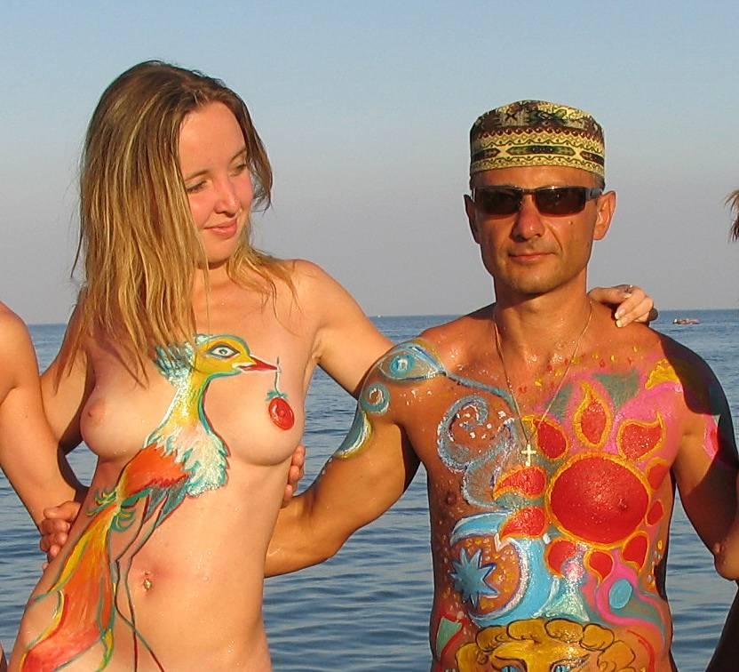 Nudist Pics Sun Setting On The Ocean - 2