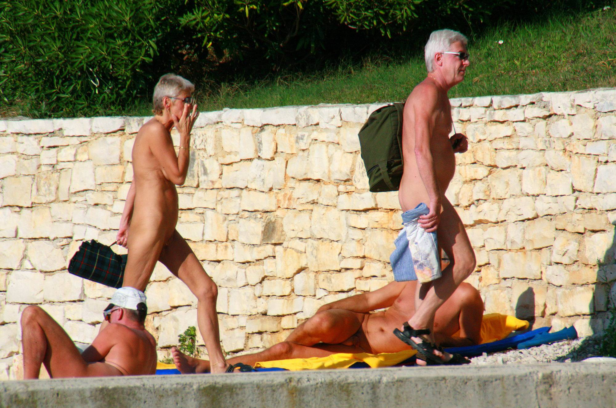 Nudist Photos Ula FKK Wall-Side Passby - 1